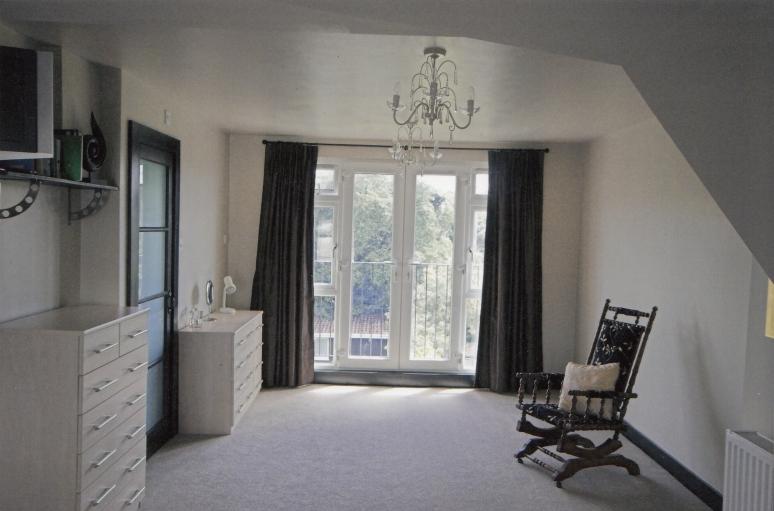 Loft conversion with balcony